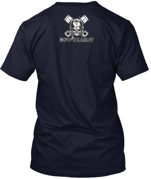 Bow Tie Til I Die Navy T-Shirt Back