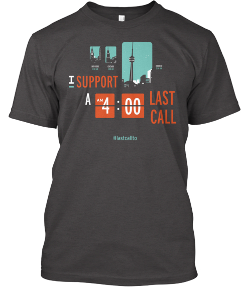 Extend Last Call Toronto Dark Grey Heather T-Shirt Front