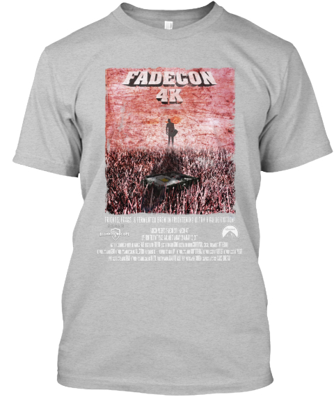 Fadecon 4 K Light Heather Grey  T-Shirt Front