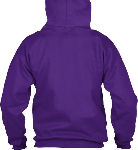Kindergarten Teacher Hooded Sweatshirt Purple T-Shirt Back