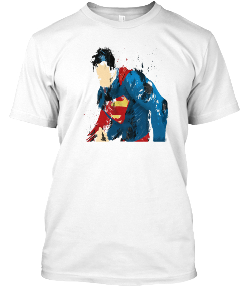 Beaten Man Of Steel  White T-Shirt Front