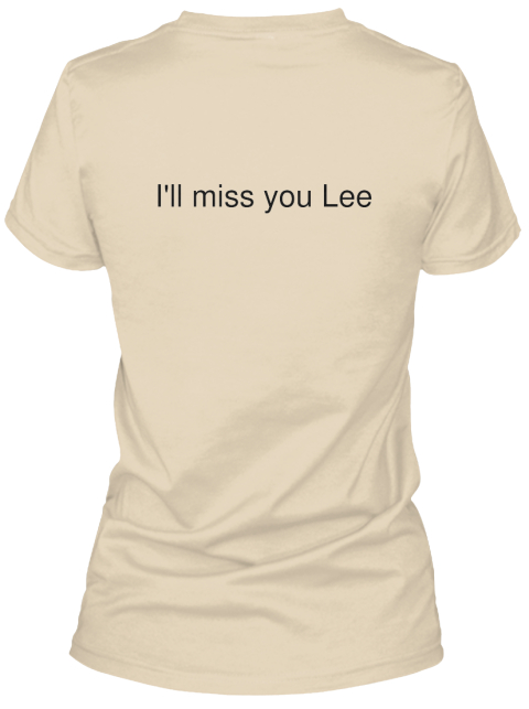 I'll Miss You Lee Soft Cream Women's T-Shirt Back