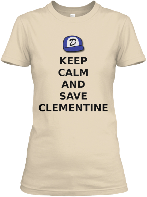 Keep%0 Acalm%0 Aand%0 Asave%0 Aclementine Soft Cream Women's T-Shirt Front