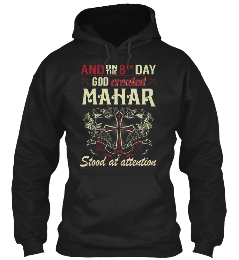 8 Th Day God Created Mahar Black Sweatshirt Front