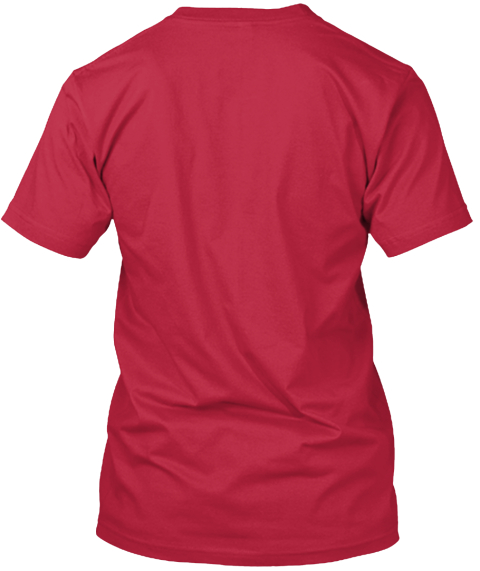 Skull And Drone Red T-Shirt Back