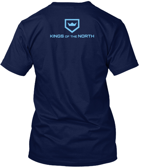 Kings Of The North Navy T-Shirt Back