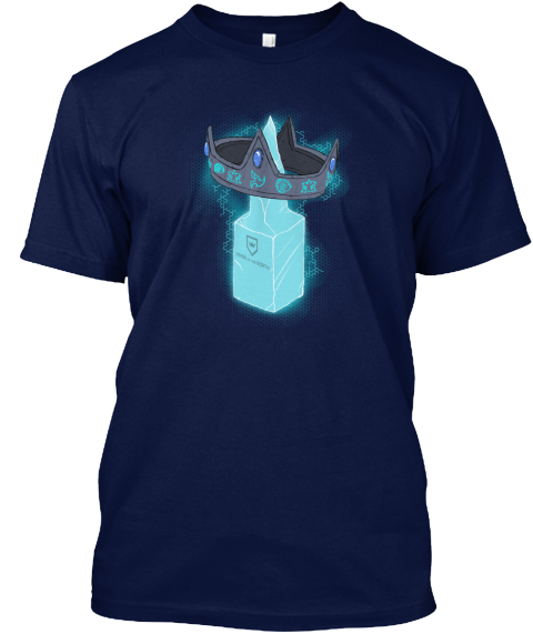 Kings Of The North Crown Shirt Navy T-Shirt Front