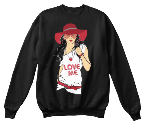 Valentine Day Tee Shirts   Sweater Black Sweatshirt Front