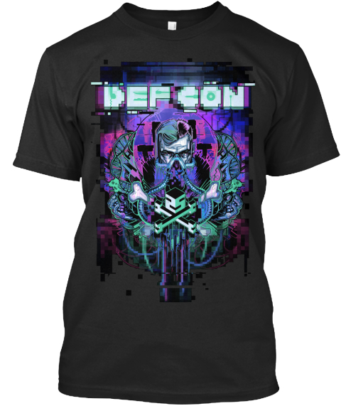 Def Con January Stash Black T-Shirt Front