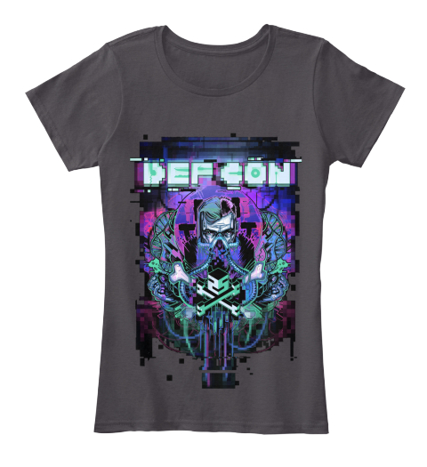 Def Con Secret Stash Jan. Women's Shirt Heathered Charcoal  Women's T-Shirt Front