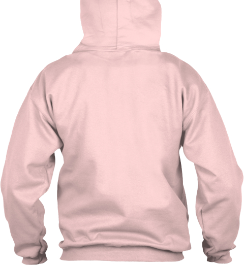Woman   Majored In   Human Resources Light Pink Sweatshirt Back