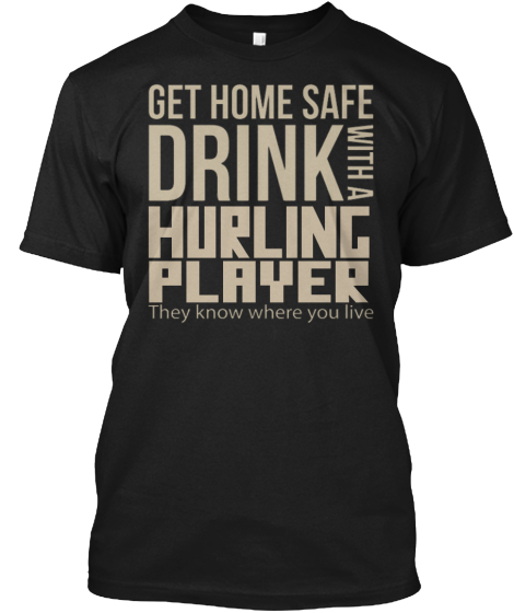 Hurling Player T-Shirt Front
