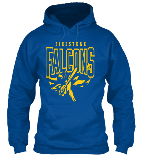 Firestone Falcons   Hoodies Royal Sweatshirt Front