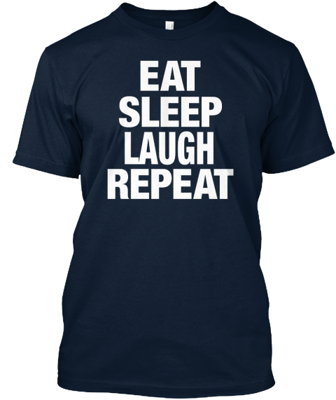 Text New Navy T-Shirt Front