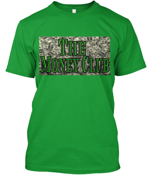 The Money Club Kelly Green T-Shirt Front