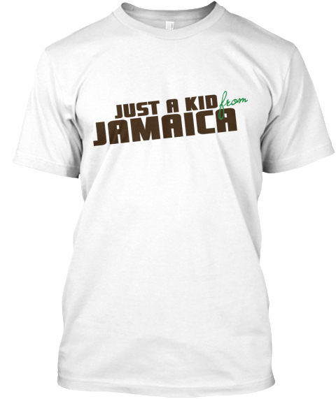 Just A Kid Jamaica White T-Shirt Front