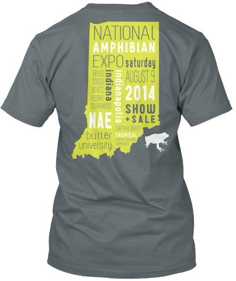 National Amphibian Expo T Shirt Campaign Asphalt T-Shirt Back
