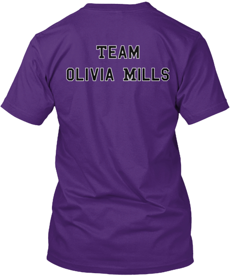 Team%0 A Olivia Mills Purple T-Shirt Back