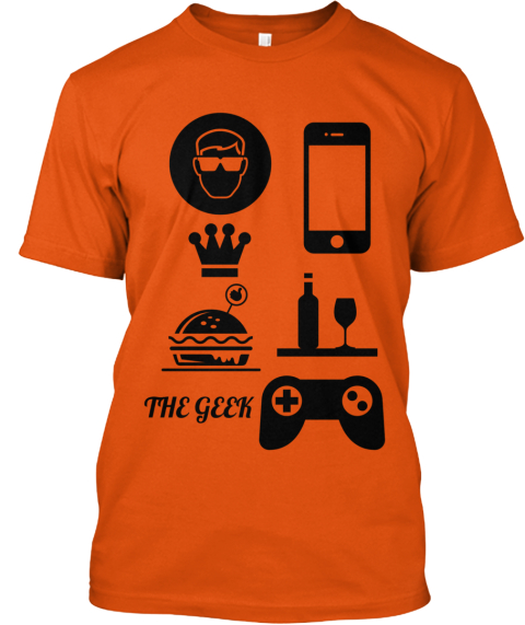 The Geek Orange T-Shirt Front