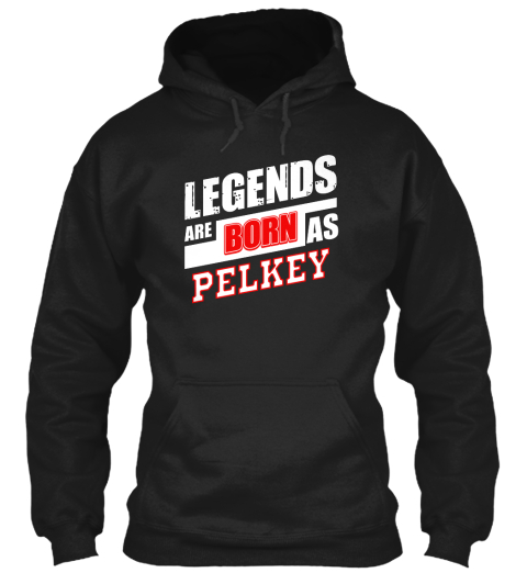 Pelkey Family Name Shirt Black T-Shirt Front