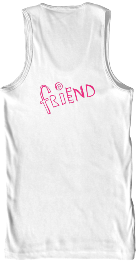 Curl Best Friend  White Tank Top Back