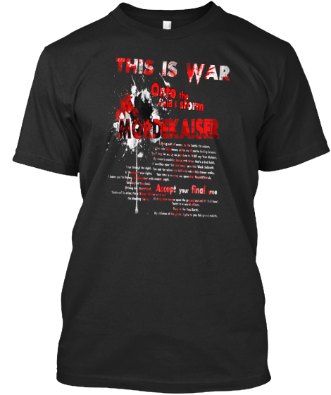 This Is War Onto The Field I Storm Mordekaiser Falconshield T-Shirt Front