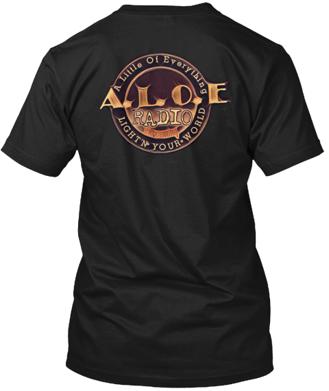 Aloe Radio Black T-Shirt Back
