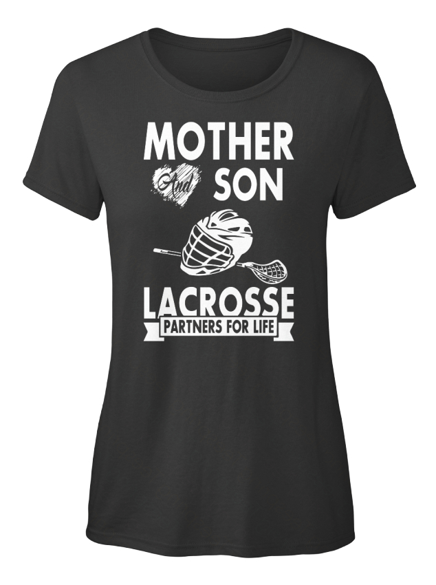 Soft-Lacrosse-Mother-And-Son-A-Partners-For-Life-T-shirt-Elegant-pour-Femme