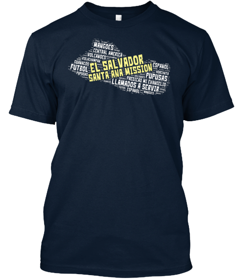 El Salvrdor Santa Ana Mission New Navy T-Shirt Front