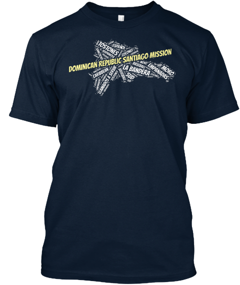 Dominican Republic Santiago Mission Sud New Navy T-Shirt Front