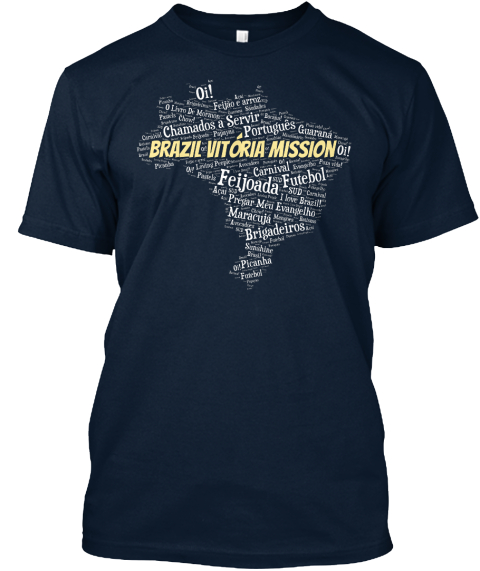 Brazil Vitoria Mission New Navy T-Shirt Front