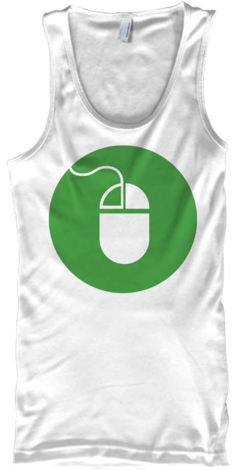 Crystallisation And Precipitation Gildan White Tank Top Front