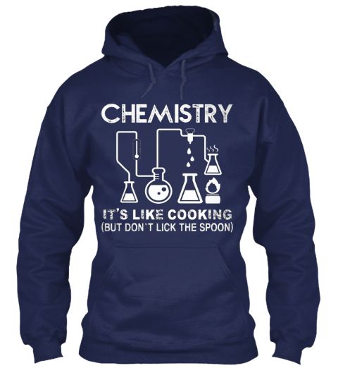Chemistry Is Awesome Navy Sweatshirt Front