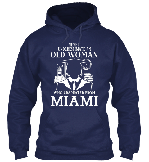 Miami Graduated Navy Sweatshirt Front