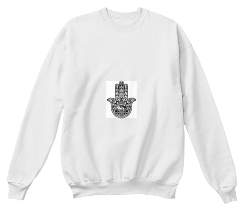 321313 White  Sweatshirt Front