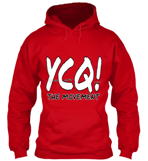 Ycq!  An't Ou Uit The Movement Red Sweatshirt Front