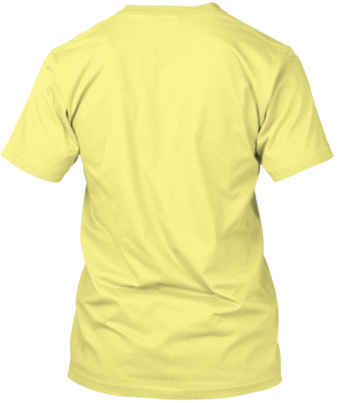 Shady Cat Lemon Yellow  T-Shirt Back