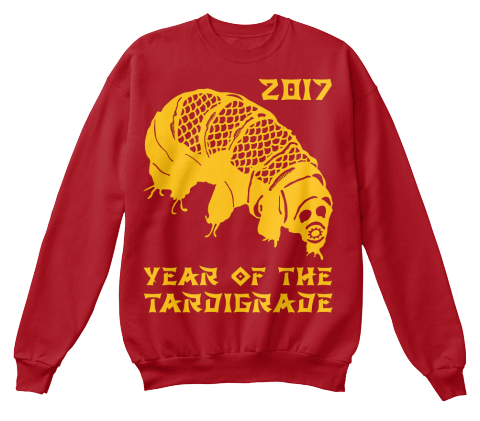 2017 Year Of The Tardigrade Deep Red  T-Shirt Front