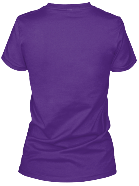 I Love Rodeo. Purple Women's T-Shirt Back