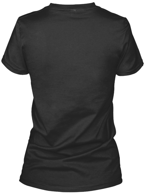 Creative Design Tshirts Black Women's T-Shirt Back
