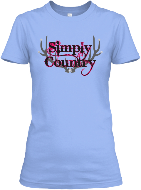 Simply Country Pink Sweatshirt  Light Blue T-Shirt Front
