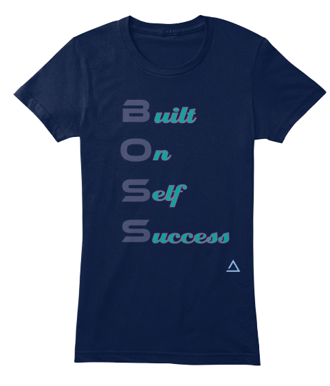 Built On Self Success Navy T-Shirt Front