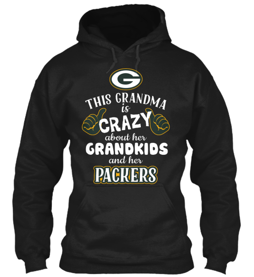 G This Grandma Is Crazy About Her Grandkids And Her Packers  T-Shirt Front