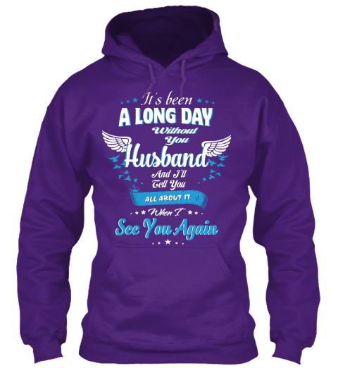 Always I Miss My Husband Purple T-Shirt Front