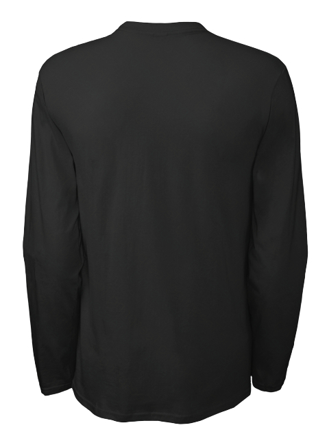 Official Delta Heavy Triangle Long Sleeve Black Long Sleeve T-Shirt Back