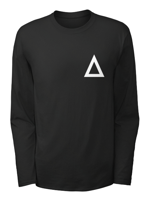 Official Delta Heavy Triangle Long Sleeve Black Long Sleeve T-Shirt Front