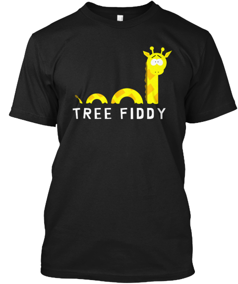 Tree Fiddy Black T-Shirt Front