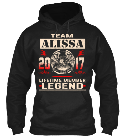 Team Alissa 2017 Black T-Shirt Front