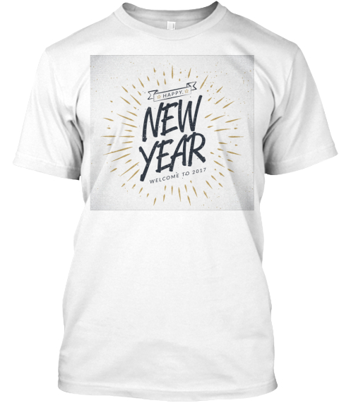 Sale New Year White T-Shirt Front