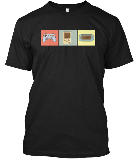 Retro Game Controller Video Games Cool T-Shirt Front